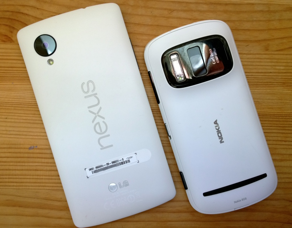 Nexus 5 and Nokia 808