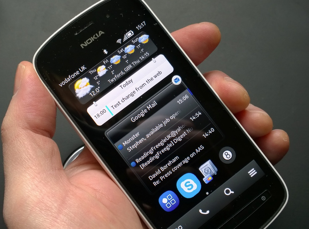 Synced Google email and data on Symbian