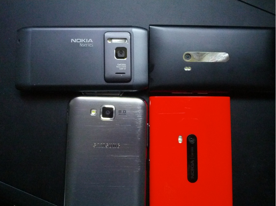 The 4 tested camera phones