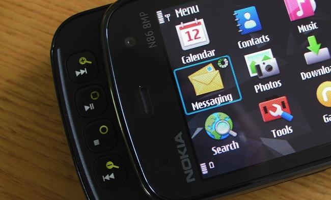 Media controls - on an N86