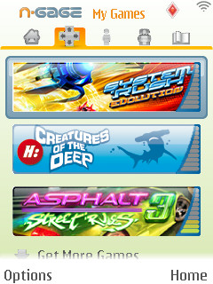 N-Gage application games section