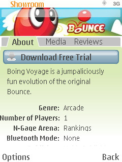 N-Gage showroom game screen