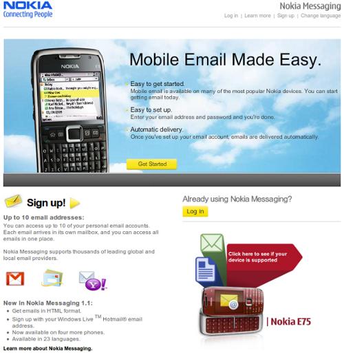 Nokia Messaging Home