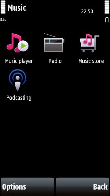Nokia 5800 music folder