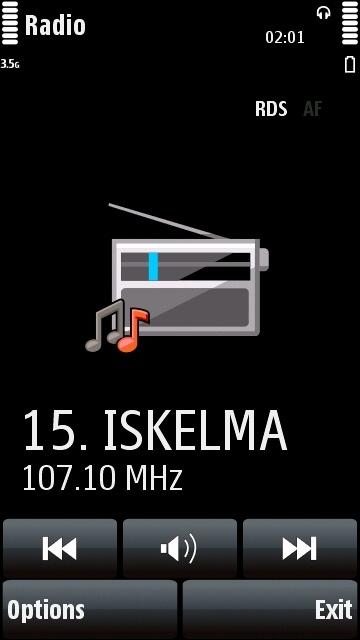 Nokia 5800 FM radio application