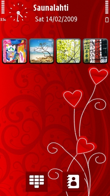 Valentine's Day theme on the Nokia 5800