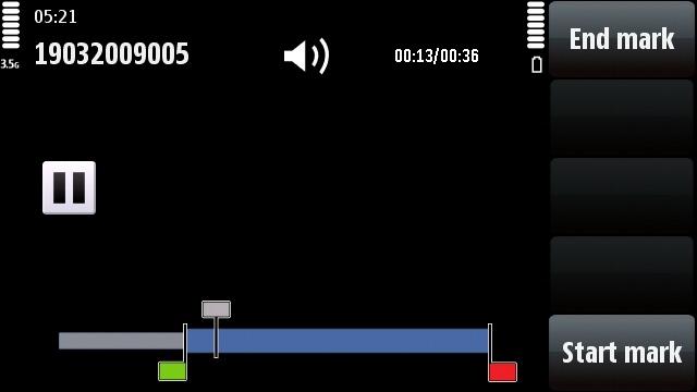 Nokia 5800 XpressMusic video editing mode