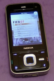 Nokia N81 running FIFA demo in vertical mode