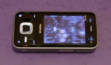 Nokia N81 running Space Impact demo in horizontal mode