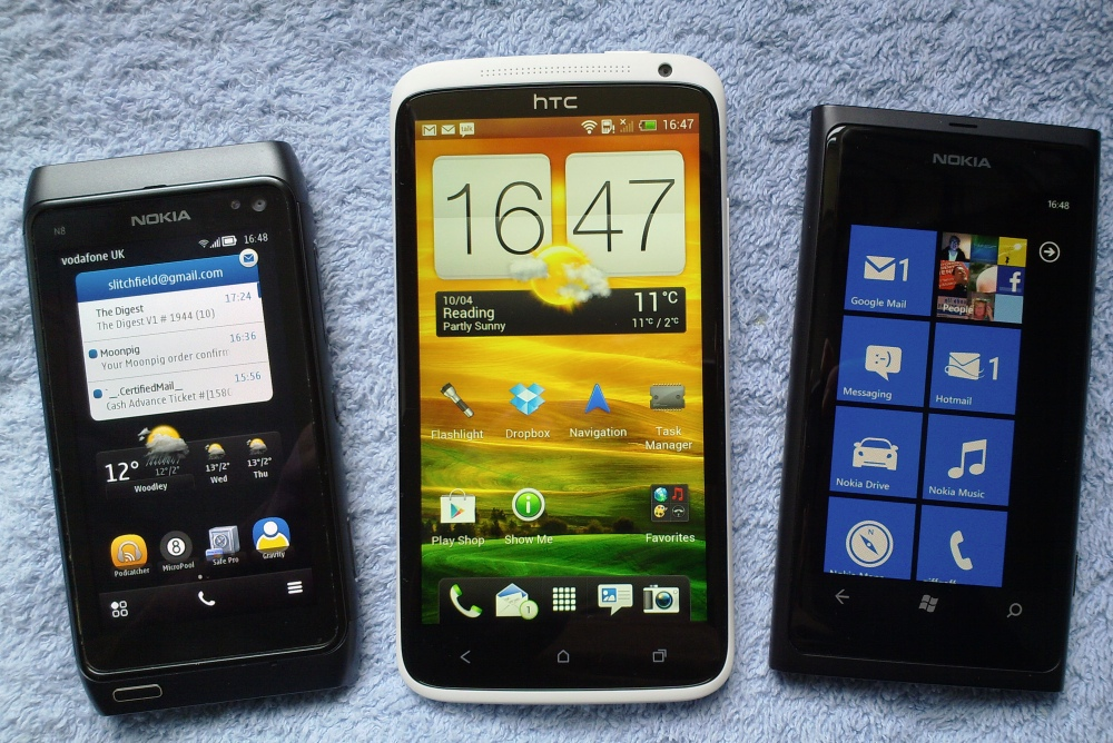 REVIEW:- Nokia N8 vs HTC One X vs Lumia 800