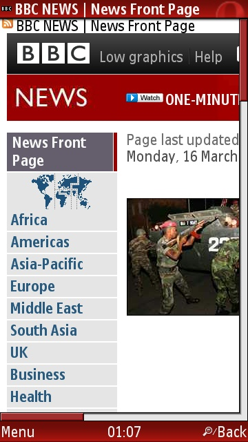 BBC News on Opera Mini