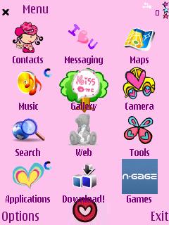 Pink Luv menu screen