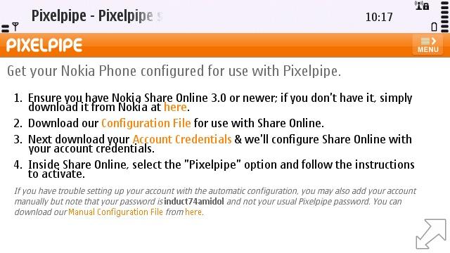 Installing the Pixelpipe Share Online plugin via Web
