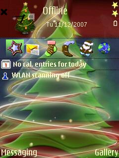 3D Xmas Tree standby screen