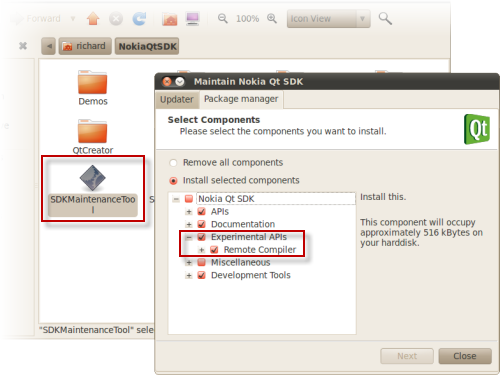 Usings the SDK Maintenance Tool to add Remote Compiler