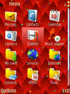 Red Xmas Trees menu screen