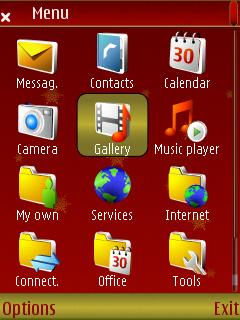 Red Christmas menu screen