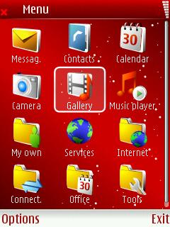 Red Xmas menu screen