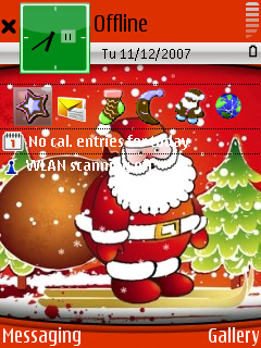 Santa Clause standby screen