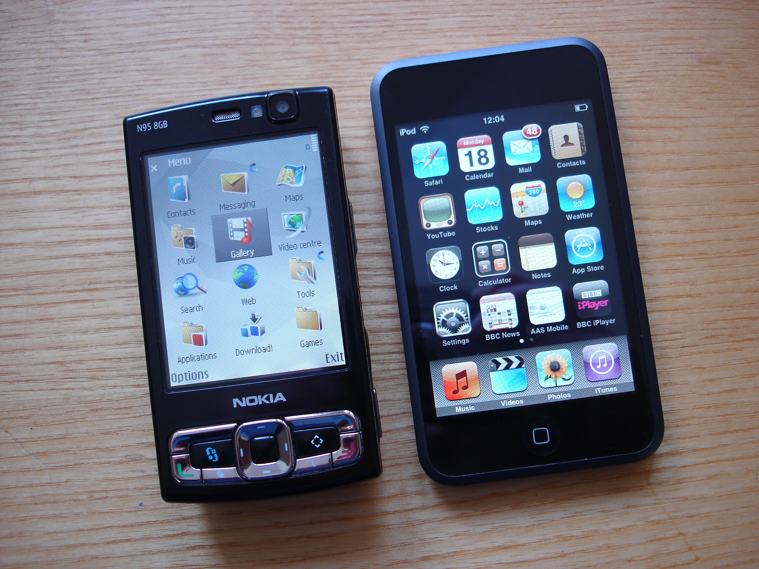 N95 8GB and iPhone/iPod