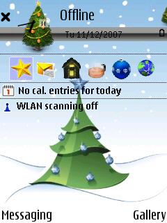 Xmas Tree standby screen