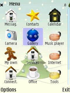 Xmas Tree menu screen