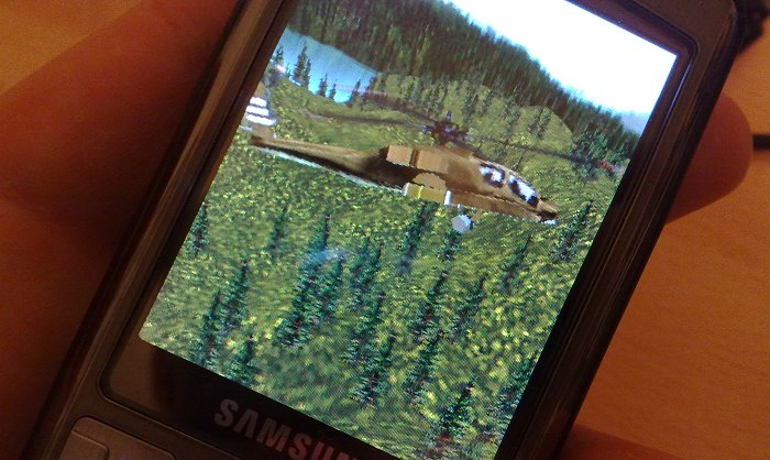 Gaming graphics (SPMark) on the Samsung i7110