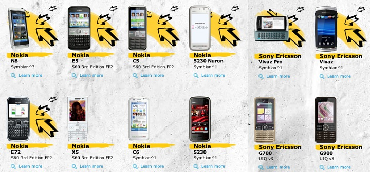 Symbian-powered smartphones