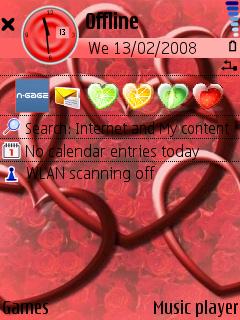 Valentine standby screen