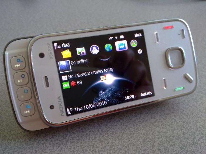 White N86 smartphone