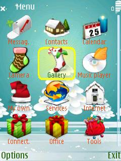 Xmastree menu screen