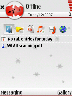 White Christmas standby screen