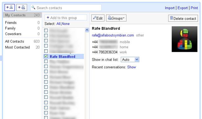 symbian activesync gmail