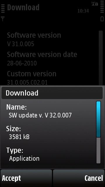 5530 v32 update prompt