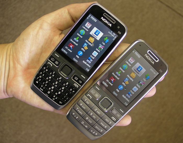 Nokia E55 and E52