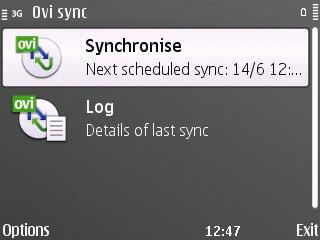 Ovi Sync on E72