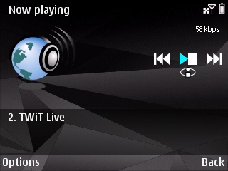 Internet Radio running on the E72