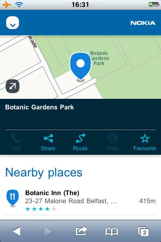 Nokia Maps on iPhone