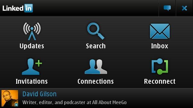 The LinkedIn app home screen