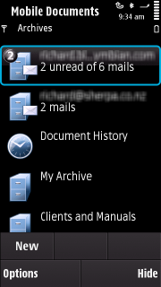 Mobile Documents archives view