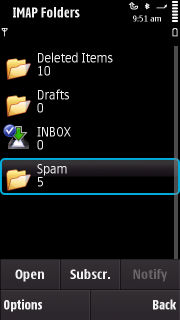 Selecting IMAP folders