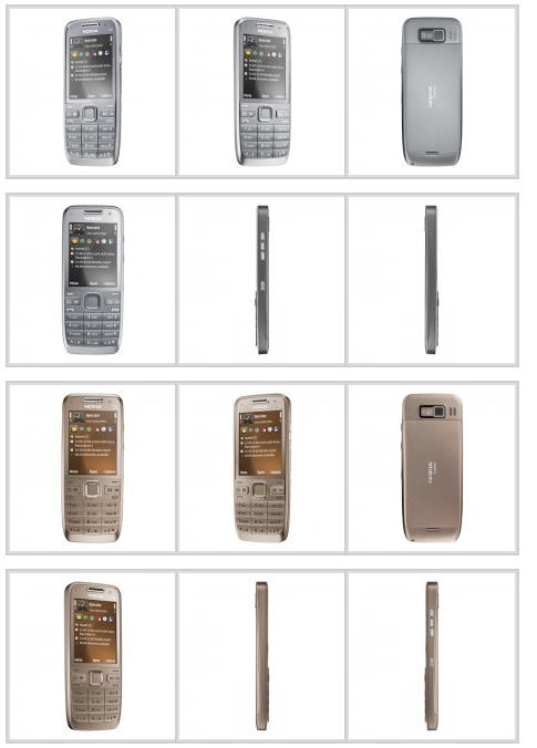 Photos of the Nokia E52