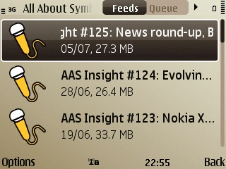 Symbian Podcatcher on S60 3rd Edition FP2