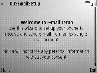 E71 email wizard