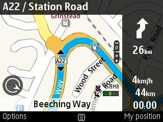 Ovi Maps on E71