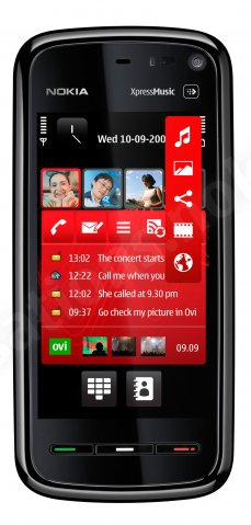 Nokia 5800 Xpress Music home screen