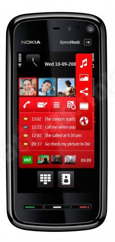Nokia 5800 Xpress Music home screen