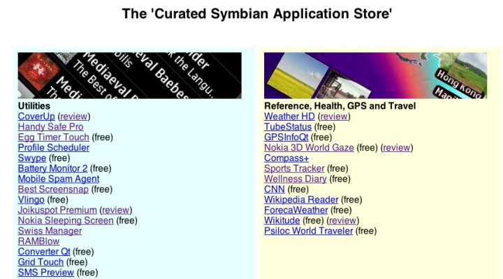 Curated Symbian App Store