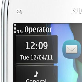 Nokia E6 detail