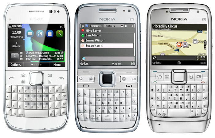 Nokia E6-00 comapred to E72 and E71